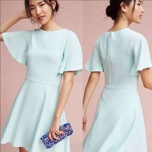 🍓Anthropologie Lovisa flutter sleeve mint dress